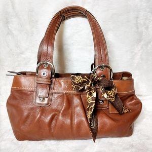 Coach Shoulder Bag with Silk Scarf